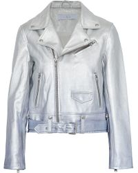 IRO - Metallic Dégradé Leather Biker Jacket - Lyst