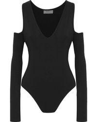 Bailey 44 - Woman Patricia Cold-shoulder Stretch-jersey Bodysuit Black - Lyst