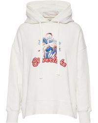 Baum und Pferdgarten - Embroidered Cotton-blend Fleece Hooded Sweatshirt - Lyst