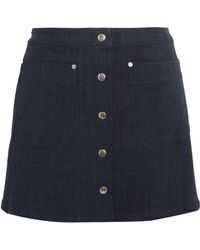 Rag & Bone | Siggy Cotton-blend Chambray Mini Skirt | Lyst