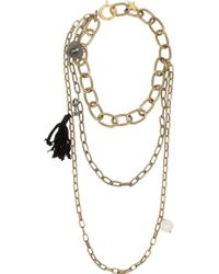 Lanvin - Susan Gold-tone, Swarovski Crystal And Faux Pearl Necklace - Lyst