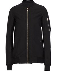 DRKSHDW by Rick Owens - Flight Ribbed Cotton-blend Bomber Jacket - Lyst