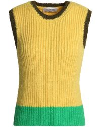 Valentino - Color-block Ribbed Wool Jumper - Lyst