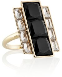Kelly Wearstler - - Rexford Gold-plated, Onyx And Crystal Ring - Lyst