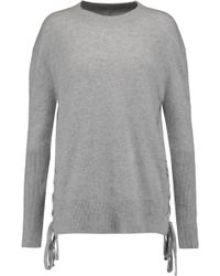RTA - Arianne Lace-up Cashmere Sweater - Lyst