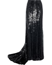 Carolina Herrera - Sequined Silk Maxi Skirt - Lyst