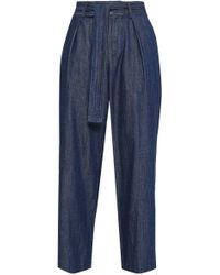 Joie - Cropped High-rise Wide-leg Jeans - Lyst