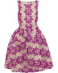 Zac Posen - Flared Brocade Dress - Lyst