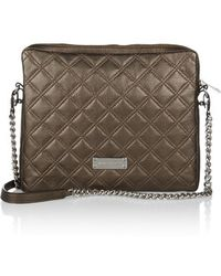 Marc Jacobs - - Quilted Leather Ipad Case - Bronze - Lyst