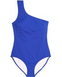 Iris & Ink - One-shoulder Swimsuit Cobalt Blue - Lyst