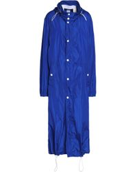JOSEPH - Hooded Shell Coat Bright Blue - Lyst
