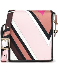 Emilio Pucci - Leather-trimmed Printed Twill Shoulder Bag - Lyst