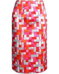 Mary Katrantzou - Sigma Floral-print Faille Pencil Skirt - Lyst