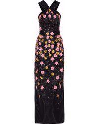 Zac Posen - Embellished Silk-organza Gown - Lyst