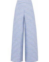Sleepy Jones - Striped Linen Pyjama Trousers Light Blue - Lyst