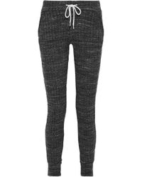 Monrow - Mélange Ribbed-knit Leggings - Lyst