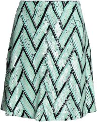 House of Holland - Sequin And Bead-embellished Crepe De Chine Mini Skirt - Lyst