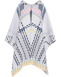 Peter Pilotto - Wool And Angora-blend Knitted Hooded Cape - Lyst