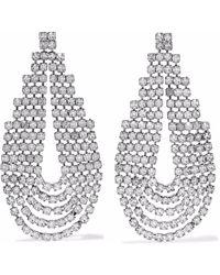 Elizabeth Cole - Woman Silver-tone Crystal Earrings Silver - Lyst