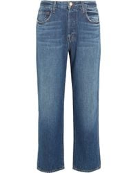 J Brand - Ivy Cropped High-rise Straight-leg Jeans - Lyst