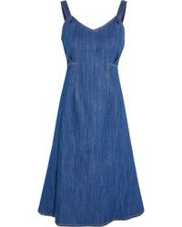 Adam Lippes - Denim Dress - Lyst