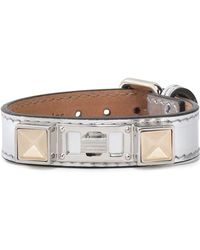 Proenza Schouler - Metallic Leather, Silver And Gold-tone Bracelet - Lyst