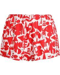 Love Stories - Printed Twill Pajama Shorts - Lyst