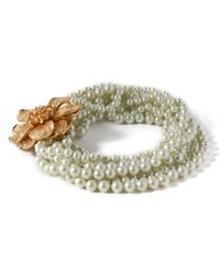 Kenneth Jay Lane - Gold-tone Faux-pearl Necklace - Lyst
