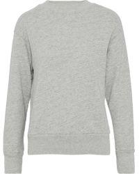 Monrow - Cotton-blend Terry Sweatshirt - Lyst