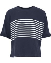 Joie - Saneya Oversized Striped Cotton-terry T-shirt - Lyst