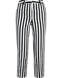 Topshop Unique - Harleyford Striped Cotton-blend Slim-leg Pants - Lyst