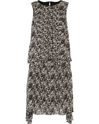 Belstaff - Lindsey Asymmetric Layered Printed Chiffon Mini Dress - Lyst