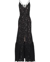 Lanvin - Button-detailed Corded Lace Gown - Lyst