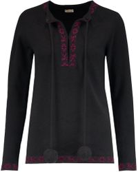 Talitha - Baja Merino Wool And Cashmere-blend Jumper - Lyst