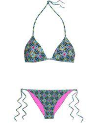 Matthew Williamson - Printed Triangle Bikini - Lyst