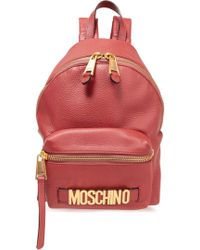 Moschino - Textured-leather Backpack Antique Rose - Lyst