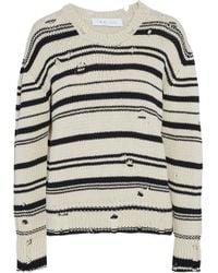 IRO - Embroidered Cotton-terry Sweatshirt - Lyst