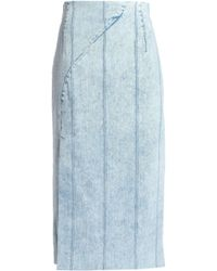 Adam Lippes - Denim Midi Skirt - Lyst