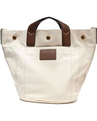 Marc Jacobs - Leather-trimmed Canvas Tote - Lyst