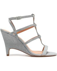 Halston - Kami Knotted Suede Sandals - Lyst