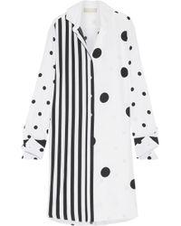 Monse - Oversized Printed Silk-blend Shirt - Lyst