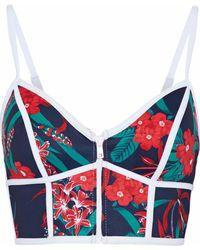 Duskii - Floral-print Neoprene Bikini Top - Lyst