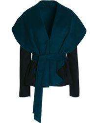 Diane von Furstenberg - Belted Boiled Wool-blend Jacket - Lyst