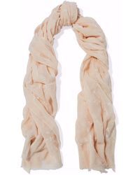 Rag & Bone - Embroidered Cotton-gauze Scarf - Lyst