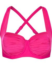 Seafolly - Pleated Bikini Top - Lyst