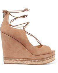 Sam Edelman - Harriet Suede Espadrille Wedge Sandals - Lyst