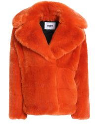 MSGM - Faux Fur Coat - Lyst