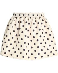 RED Valentino - Printed Faille Mini Skirt - Lyst