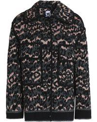 M Missoni - Metallic Crochet-knit Coat - Lyst