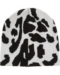 Baja East - Leopard-Intarsia Cashmere Beanie - Lyst